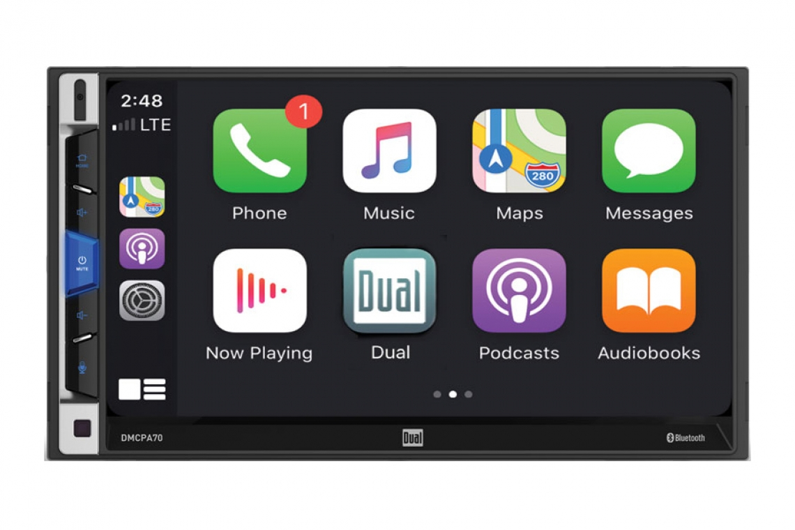 "Dual Electronics DMCPA70 7"" Multimedia Receiver with Apple CarPlay and Android Auto"