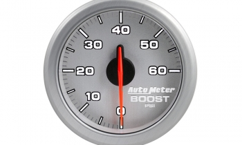 "AutoMeter AirDrive 2-1/16"" Silver Boost Gauge"