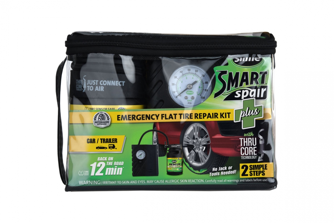 Slime Flat Tire Repair Kit: Smart Spair Plus