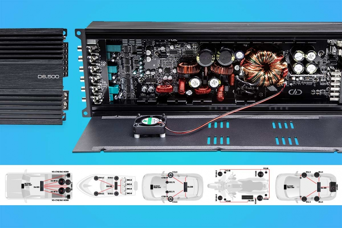 DD Audio D6.500 6 Channel Amplifier
