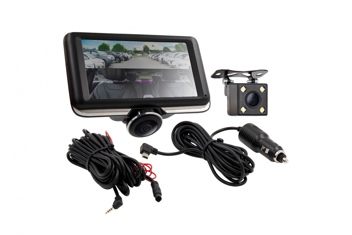 iBEAM Vehicle Safety Systems: 360 Degree Interior Dash Camera with Rearview Camera