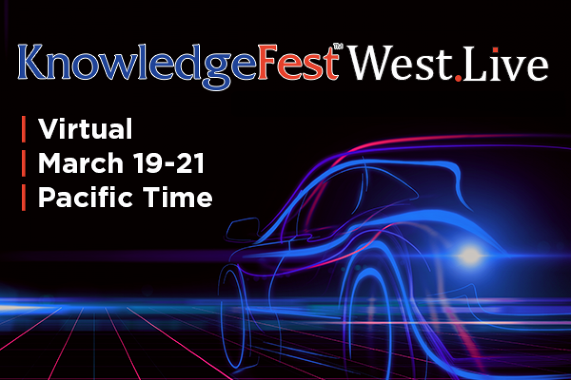 KnowledgeFest™ LIVE Goes West as a Virtual-Only Event