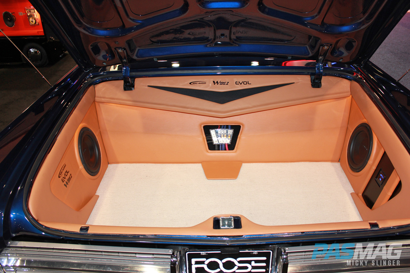 PASMAG CES 2015 Las Vegas NV ARC Audio Chip Foose Dodge Charger Wirez trunk