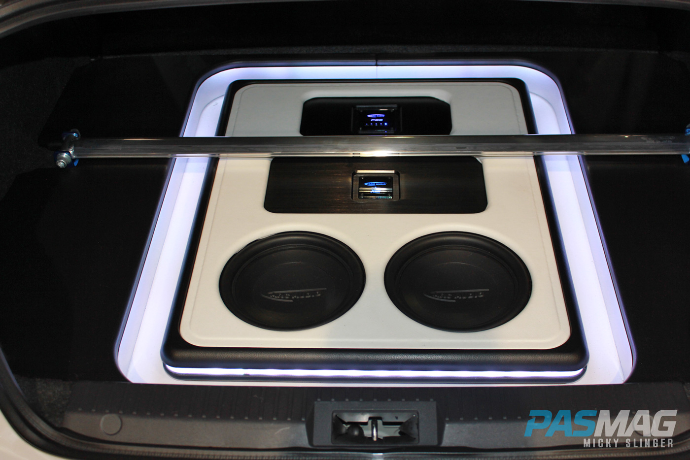 PASMAG CES 2015 Las Vegas NV BunnyHunter Scion FRS ARC Audio trunk