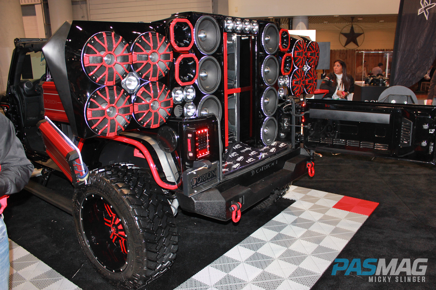 PASMAG CES 2015 Las Vegas NV Orion Jeep rear