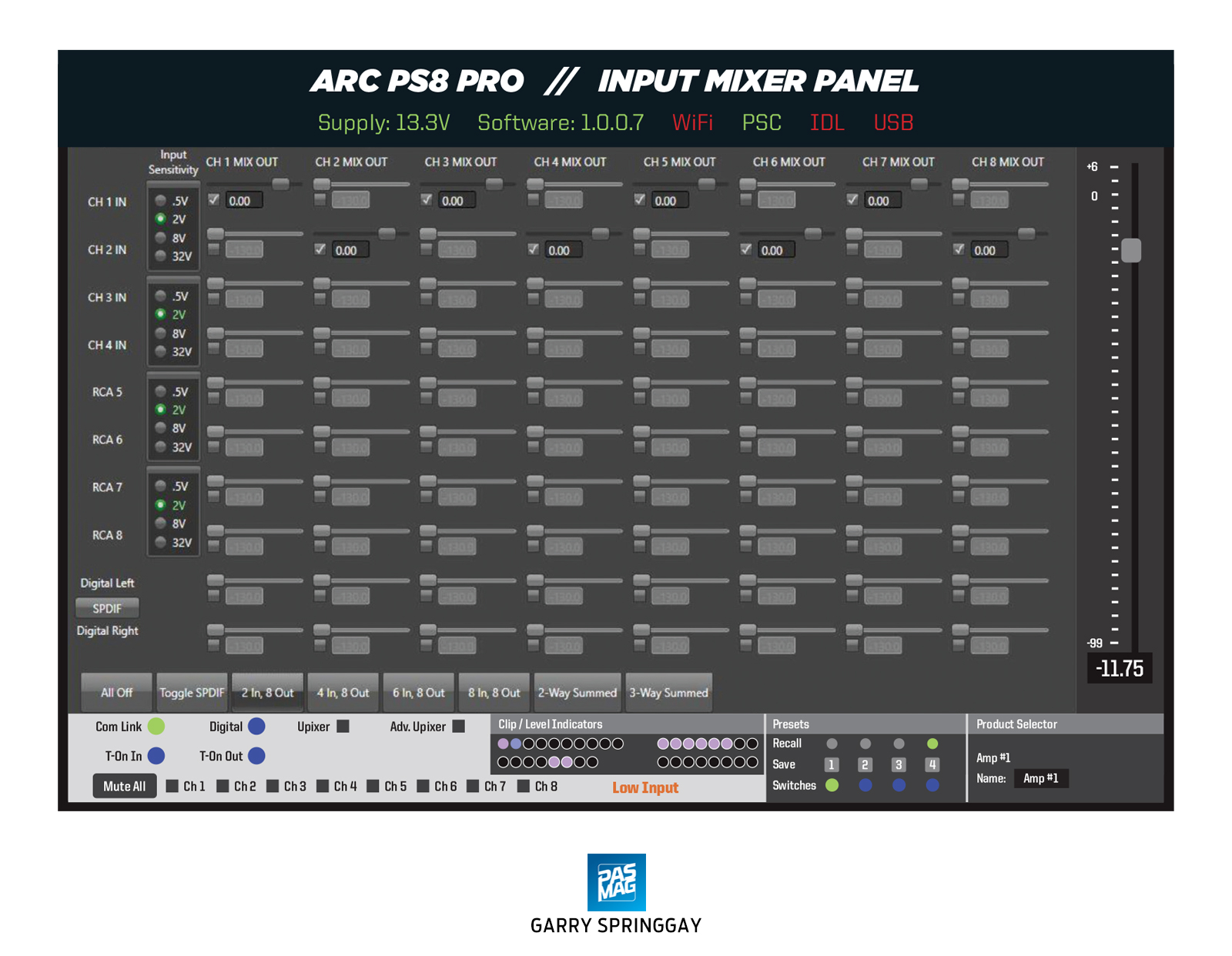 01 Arc Audio PS8 Pro Integration DSP Mixer