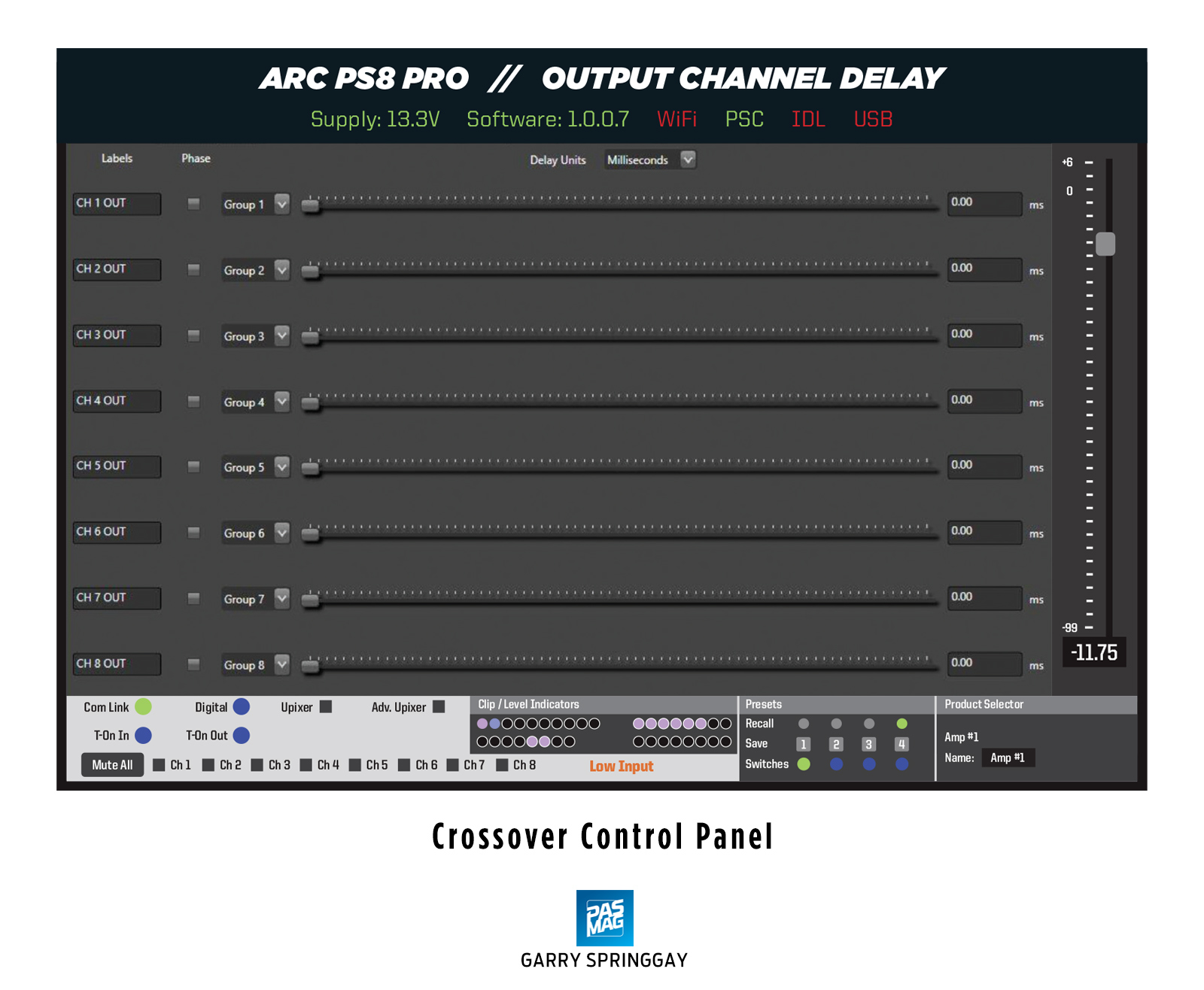 02 Arc Audio PS8 Pro Output DSP Delay
