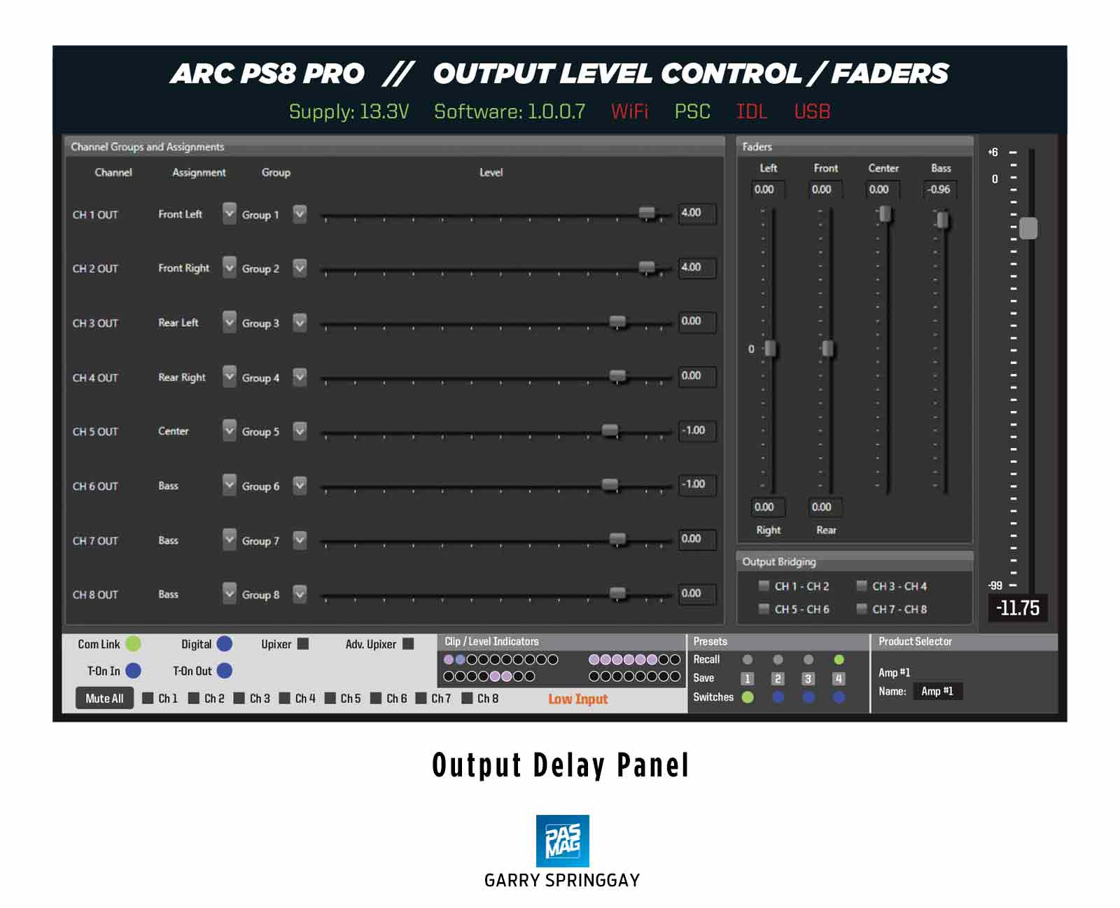04 Arc Audio PS8 Pro Output DSP Outputs