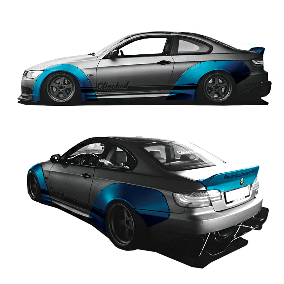 06 clinched wide body kits pasmag BMW E92