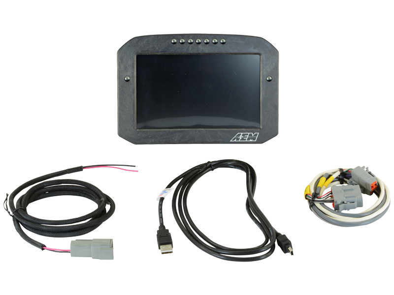 AEM CD-7//CD-7L Plug /& Play Adapter Harness for OBDII CAN Bus Including Power Cab