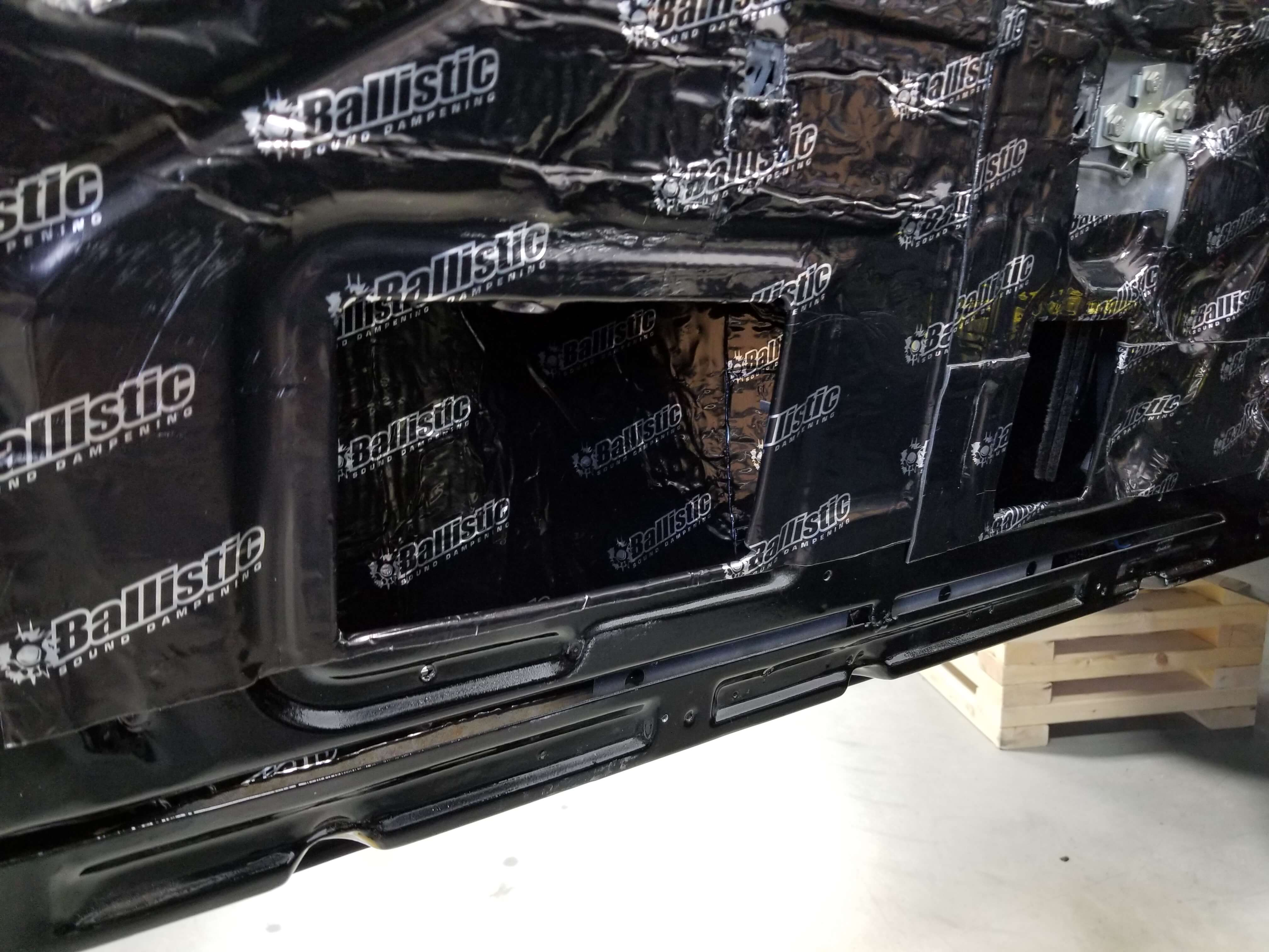 06 car audio sound deadening Ballistic 02