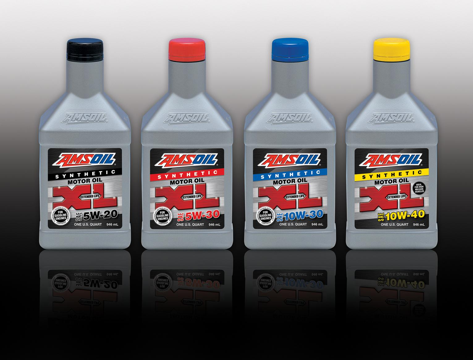 AMSOIL XL Synthetic Motor Oils employ an extra treatment of alkaline additives added to premium synthetic base stocks to neutralize acids. The extra additive package effectively raises the total base number (TBN) and resists shear to provide superior performance throughout the entire drain interval of up to 10,000 miles or six months, whichever comes first.