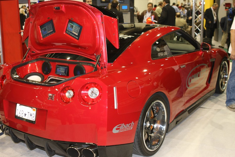 nother fast audio showcase was found at Concept Audio who did a full build on a new GTR. The GTR has enough power to lug that new Concept gear around and still get it done in the corners.