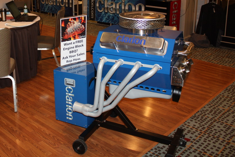 Clarion Engine Block BBQ giveaway